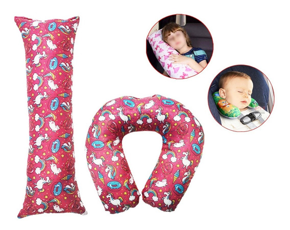 Almofada Protetora Cinto Segurança + Pescoço Infantil + Nfe