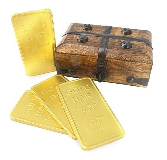 Wellpackbox Oro Lingote De La Barra De Chocolate Con La Caja