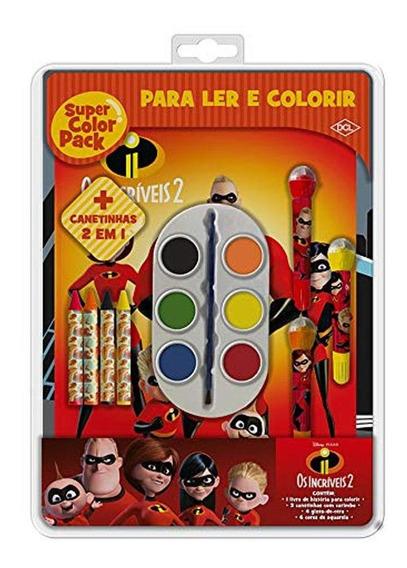 Livro De Colorir Super Color Pack Os Incríveis 2 Dcl Editora