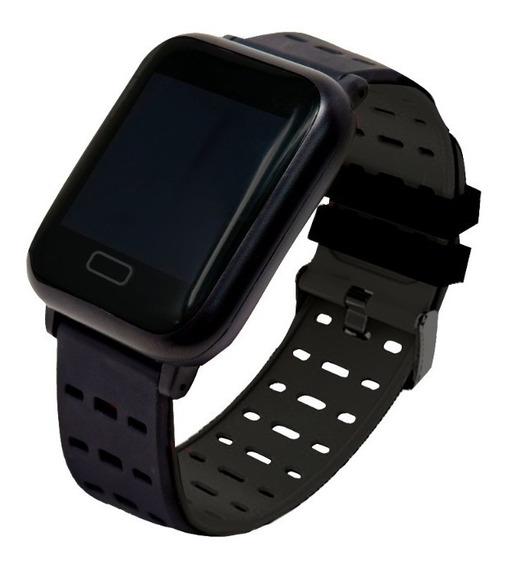 Smartwatch Sport Touch Bluetooth Celular Necnon K-3t Negro