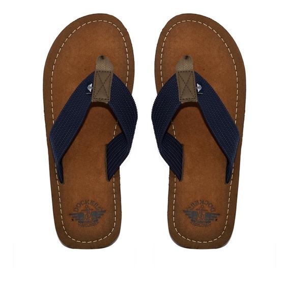 Sandalia Casual Dockers Para Caballero Color Azul Marino