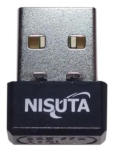 Placa De Red Antena Wifi Usb Adaptador Nisuta Nano 150 Mbps