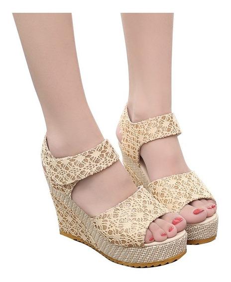 Las Mujeres Cuñas Sandalias,plataformas Zapatos De Tacón A