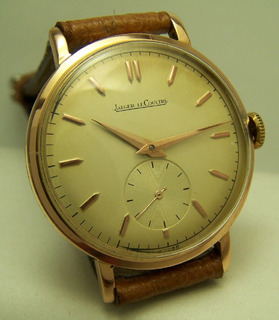 Reloj Jeager Lecoultre Oro 18k Macizo Cal.p469 Blanco! Excel