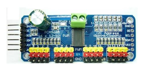 Imagen 1 de 2 de Controlador Serial 16 Servos I2c Arduino Pic Avr Robot