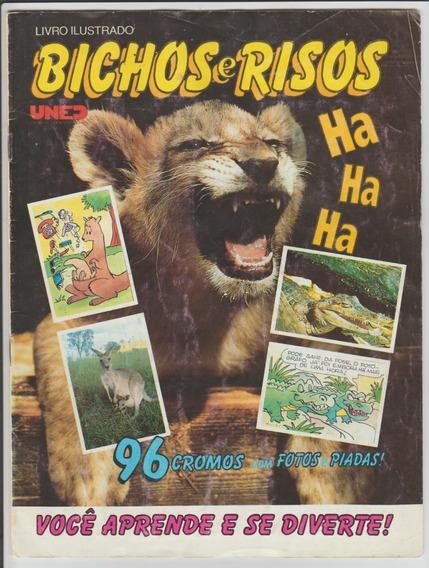 Álbum De Figurinhas Bichos E Risos Completo Uned 1994