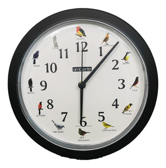 Relógio Decorativo De Parede Canto Dos Passaros Casa