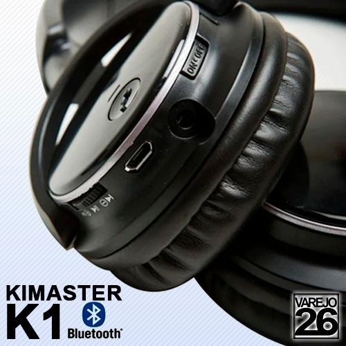 - Kimaster K1 - Fone Bluetooth C Entrada Para Cartão Microsd