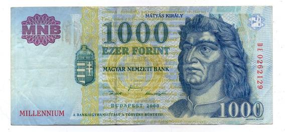 Hungria Billete 1000 Forint 2000 Millennium P#185 Argentvs