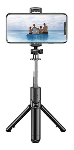 Imagen 1 de 9 de Bt Selfie Stick Plegable Trípode Rotación 360°