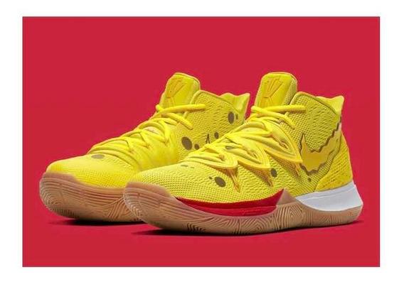 Nike Kyrie Irving 5 - Mod Bob Esponja Tam 40 Pronta Entrega