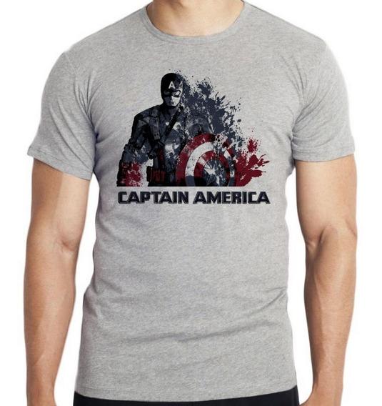 Camiseta Infantil Kids Capitão América Desintegrando Marvel