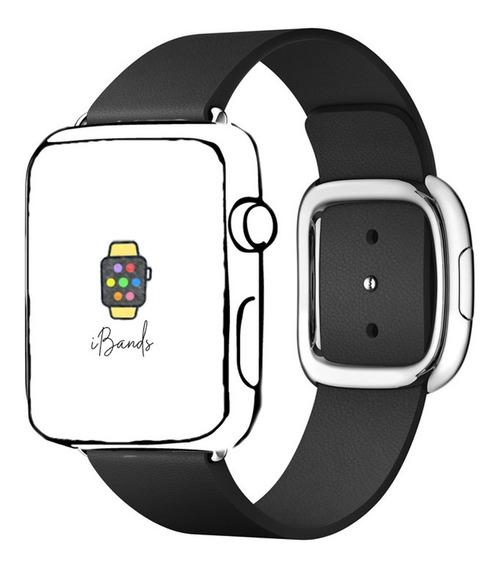 Pulseira Ibands Couro Legítimo Fecho Moderno Apple Watch