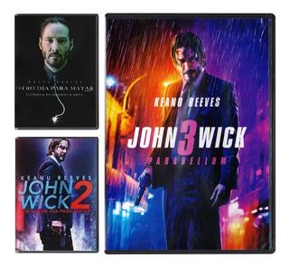 John Wick 1 2 3 Trilogia Parabellum Peliculas Dvd