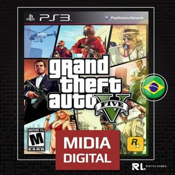 Gta 5 Grand Theft Auto Português Ps3 Psn Envio Rápido