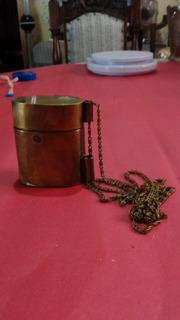 Bolsinha De Metal Com Corrente Antiga Usada Tipo Porta Moeda