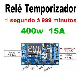 Timer Temporizador Dc 5v-30v Ajustável Até 999 Min 400w 15a