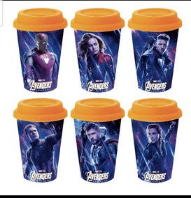 Vasos Avengers Con Tapa Y Protector Para El Calor