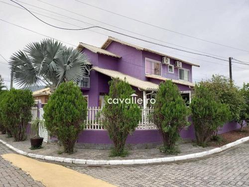 Casa 3 Quartos, 2 Suítes,  Com Piscina E Churrasqueira, Itapeba, Maricá. - Ca2201