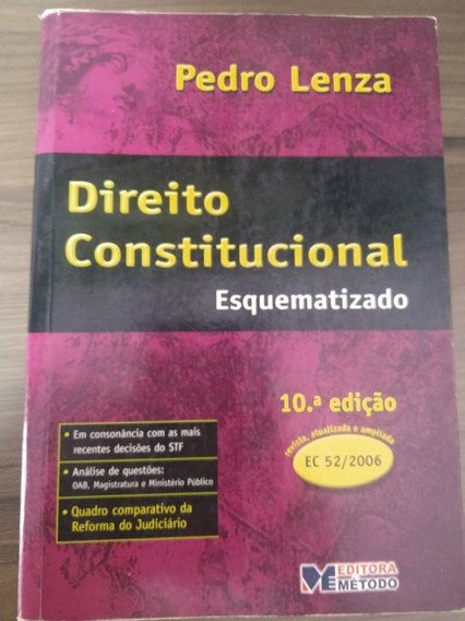 Direito Constitucional Esquematizado, 10° Edição. Usado.