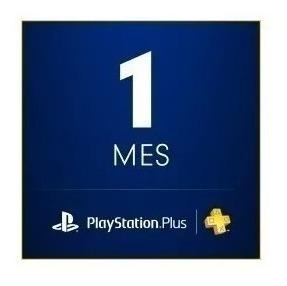 Ps Plus 1 Mes Ps4/3/vita - Oferta!