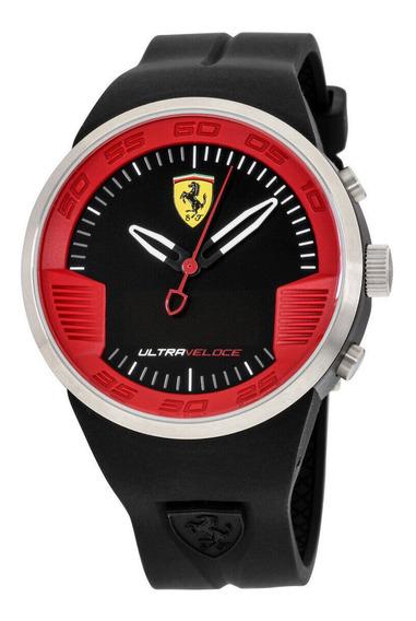 Relógio Masculino Ferrari 0830373 Pulseira De Silicone