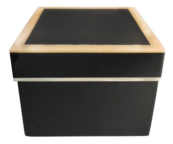 Caixa Quadrada Heloisa Preta Pequena 130x70x130mm