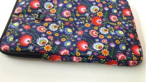 Imagen 1 de 6 de Funda Universal Para Tablet  Hasta 9.5   Floral 16x25cm