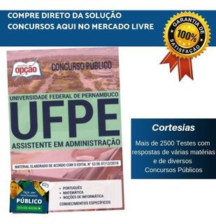 Apostila Ufpe 2019 - Assistente Em Administração
