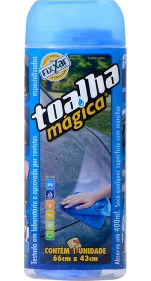 Toalha Magica Original Fixxar Super Absorvente 66x43cm Pote