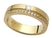 Anel Aliança De Ouro 18k E Diamantes Naturais Al98jkilate
