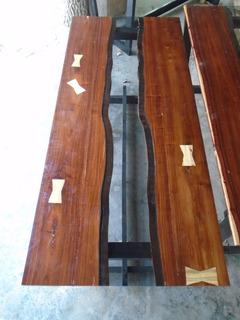 Mesa De Madera Decorativa