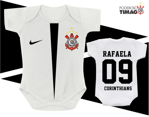 Body Futebol Camisa Corinthians Timão