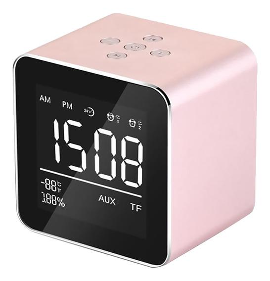 V9 Sem Fio Metal Mini Bluetooth Alto-falante Alarme Lcd Tela