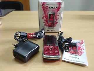 Celular Mox Mo-527 Com Caixa E Acessórios ** Não Liga **