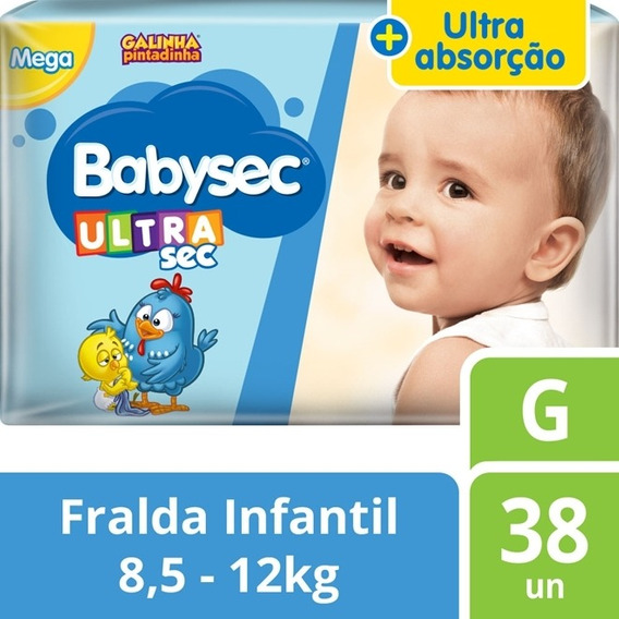 Fralda Babysec Galinha Pintadinha Ultrasec G Com 38 - Softys