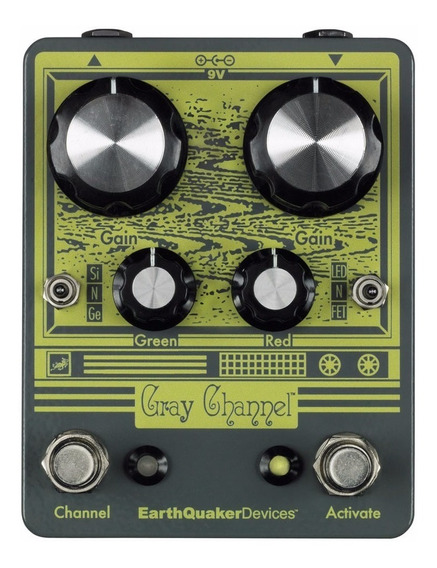 Gray Channel Dynamic Dirt Doubler Earthquaker Devices