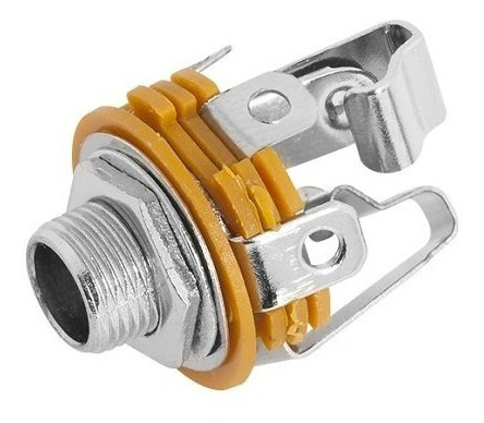 Plug P10 Jack Stero Fechado C/ Rosca