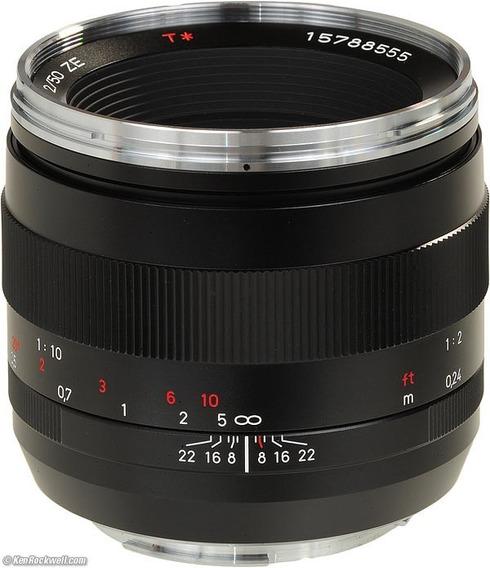 Lente Zeiss 50mm F2.0makro-planar Ze Bocal Canon Ef