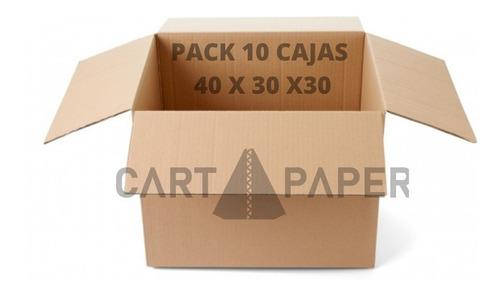 Imagen 1 de 3 de Cajas De Cartón 40x30x30 / Pack 10 Cajas / Cart Paper