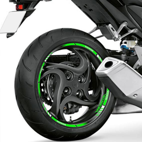 Adesivo Friso Refletivo Degradê Roda Cb 1000r Verde