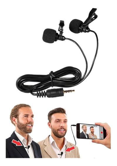 Microfone Duplo De Lapela Para Celular Smartphones