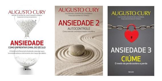 Kit Ansiedade 1, 2 E 3 - Augusto Cury - 3 Livros Novos - Nf