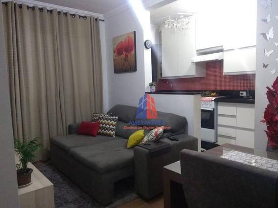 Apartamento Com 2 Dormitórios À Venda, 50 M² Por R$ 195.000 - Residencial Spazio Beach - Chácara Letônia - Americana/sp - Ap0919