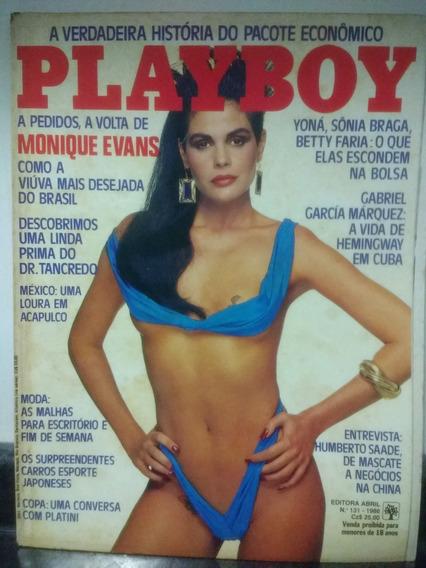Revista Playboy 131 Monique Evans 1986 Rjhm