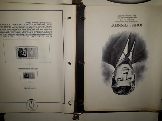 Album Estampillas John F. Kennedy 1964