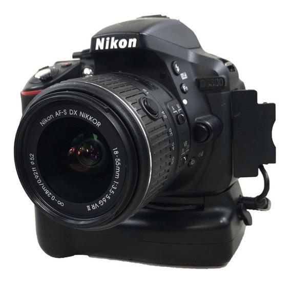 Câmera Nikon D5300 Kit 18-55mm Com Grip Usada