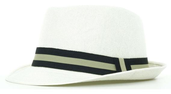 Sombrero Pachuco Lino Ala Corta Vintage Hipster Spa 87-004