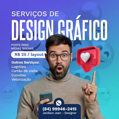 Imagem 1 de 10 de Criação Logotipo Designer Gráfico Serviços Rápido
