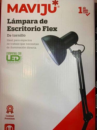 Lámpara De Escritorio Coló Negro Flexible